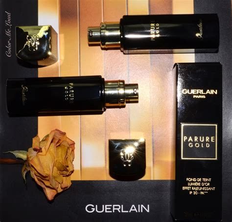 Guerlains Parure Your Foundation For Summer Days by Guerlain Parure Gold Fluid Foundation Review Swatch