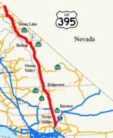 highway 395 california map highway 395