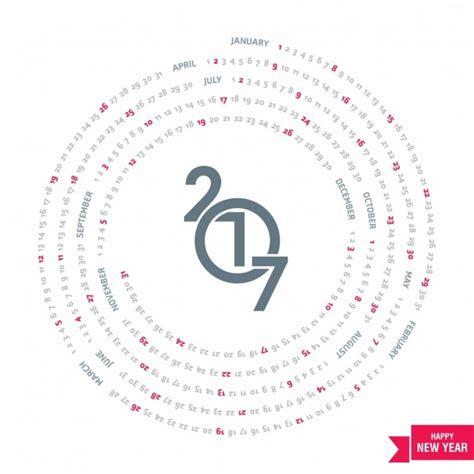 Calendario Circular Geometric Circular Calendar For 2017 Vector Free