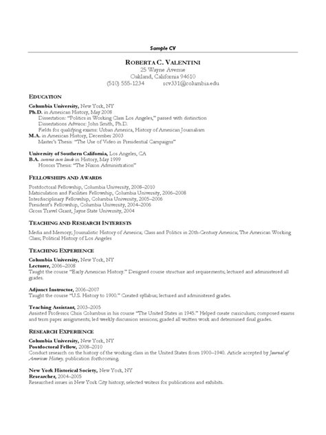 curriculum vitae sle editable simple cv format edit fill sign handypdf