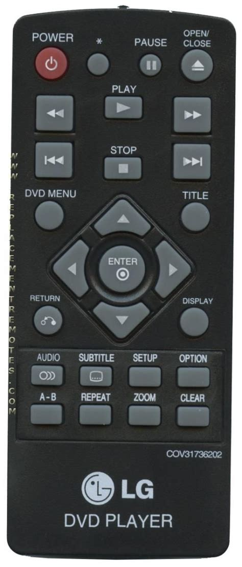Buy 5 Gratis 5 Remote buy lg cov31736202 dvd player remote