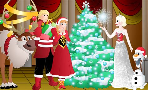 wallpaper frozen christmas a frozen christmas by willemijn1991 on deviantart