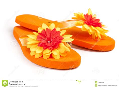 Flower Flip orange flip flops with flowers royalty free stock photos image 18893948
