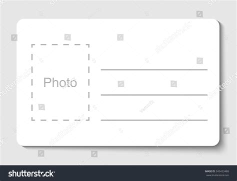 blank id card template empty blank id card vector illustration stock vector