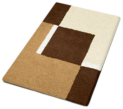 Toffee Machine Washable Bathroom Rugs Dakota Modern Modern Bathroom Rug