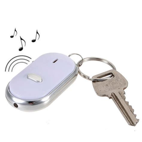 Key Board Fander led key finder locator find lost chain keychain whistle sound free shipping in key