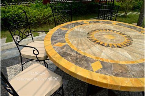 table patio ronde table ronde mosa 125 en mosa 239 que de marbre pour ext 233 rieur