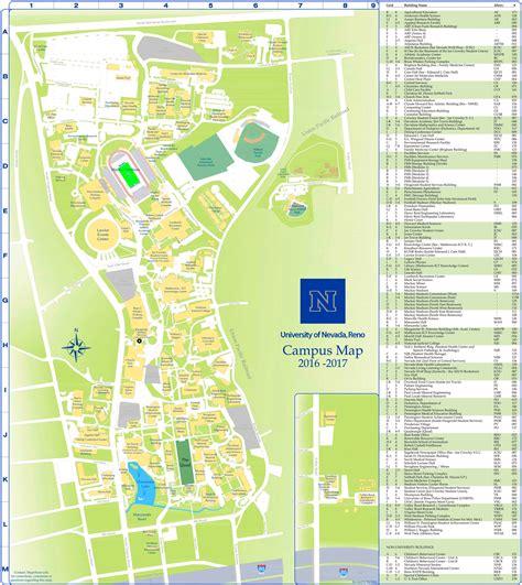 site map university of nevada reno university of nevada reno cus map