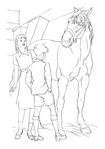 welsh pony coloring pages hest og b 248 rn tegninger