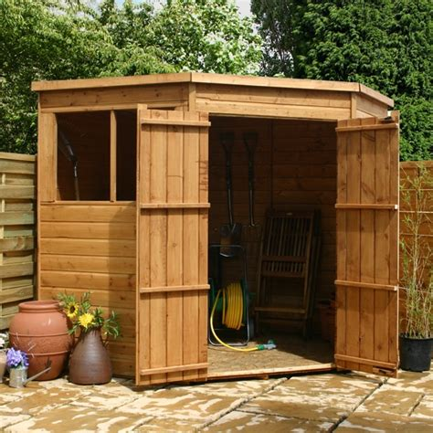 Corner Shed 7 X 7 Waltons Tongue And Groove Wooden Corner Shed