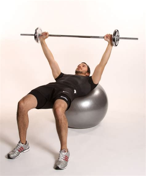 stability ball bench press bench press on fitball ibodz online personal trainer