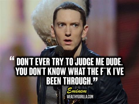 eminem you don t know lyrics 25 motivational eminem picture lyrics quotes wealthy