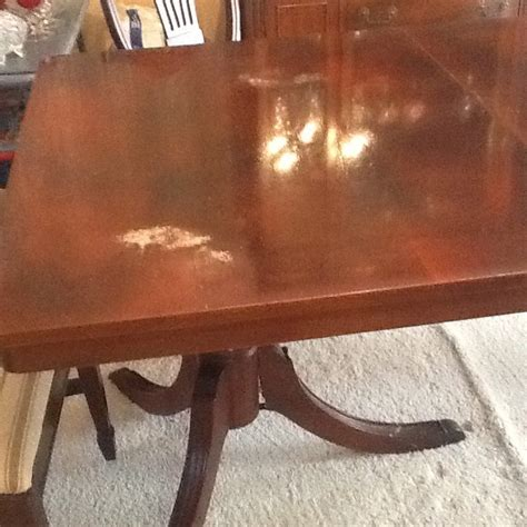 This Is A 1960's Cherry Wood Set Table, China, And Buffet. How Much Is This    My Antique