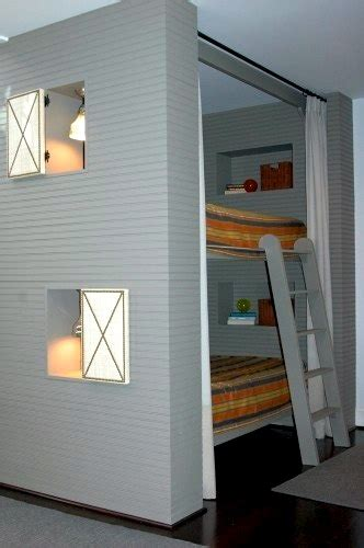 Bunk Bed Privacy Curtain Creating Privacy In Bunk Rooms Kidspace Interiors