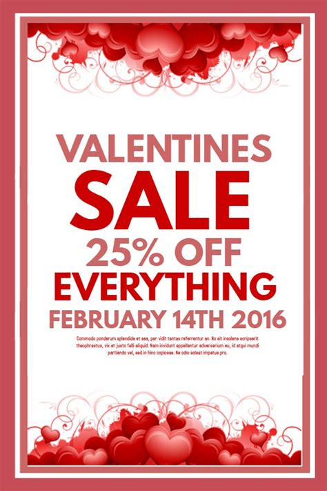 modern valentines day retail sale flyer template click