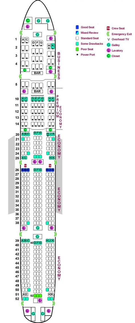 seating chart boeing 777 boeing 777 300er seating chart