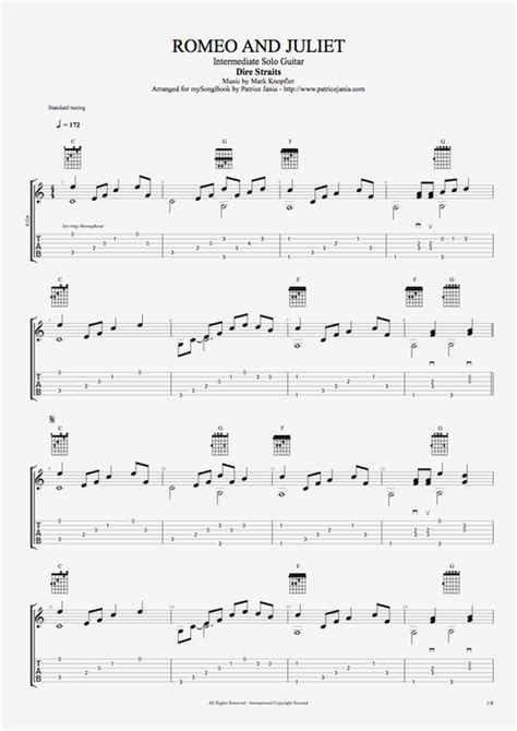 sultans of swing chords acoustic romeo and juliet by dire straits intermediate solo