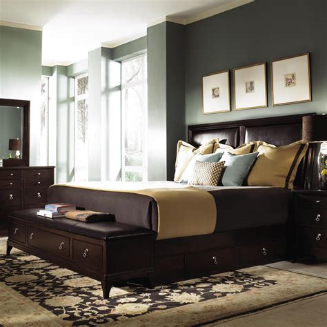 incredible king bed bench storage  bedroom size