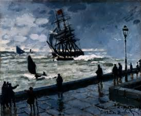 le bad the jetty at le havre bad weather 1870 claude monet