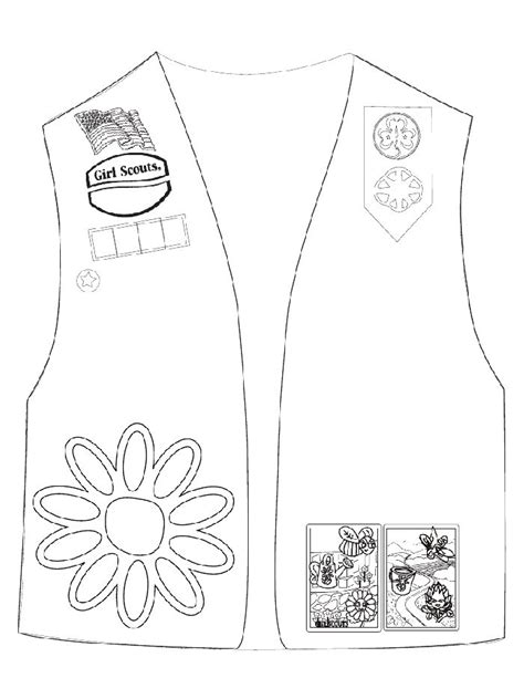 Girl Scout Coloring Sheets De Colorat Daisy Girl Scout Daisies Coloring Pages