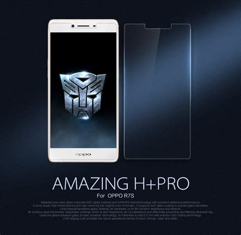 Tempered Glass Nerofor Oppo R7s nillkin amazing h pro tempered glass screen protector for
