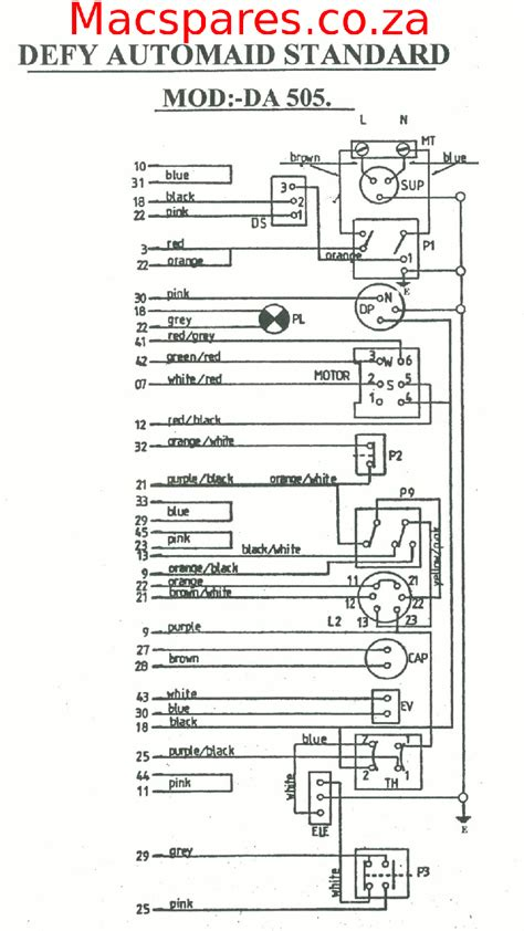 wiring diagrams washing machines macspares wholesale spare parts supplying africa