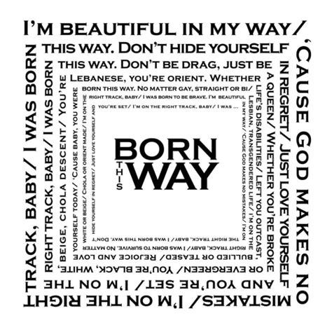 born lady gaga lyrics lady gaga printable printable decor