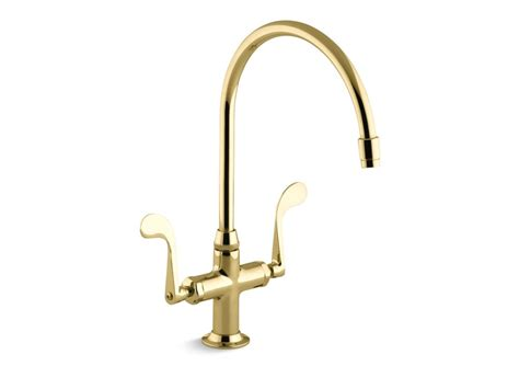kohler brass kitchen faucets kohler essex 174 handle single kitchen faucet