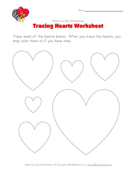 tracing hearts worksheets breadandhearth
