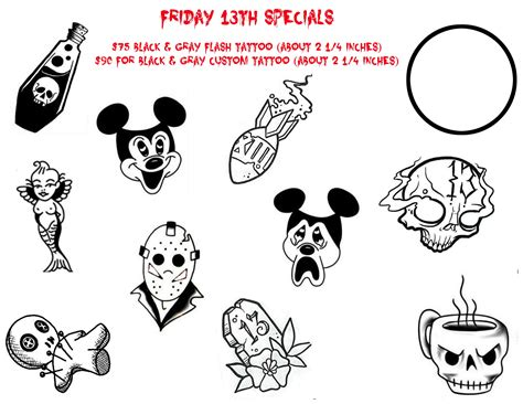 friday the 13th tattoos special october 2017 friday 13th customer appreciation special