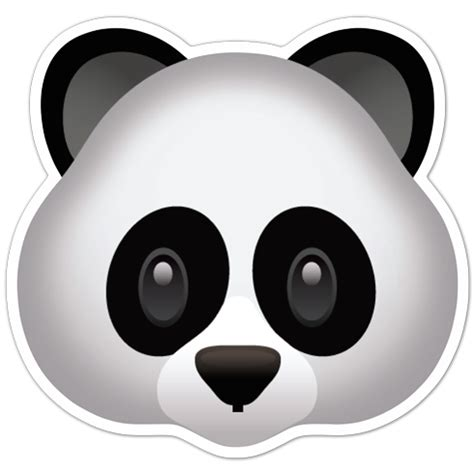 panda emoji tattoo aufkleber emoji panda gesicht