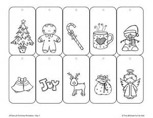 christmas countdown day 7 color your own printable