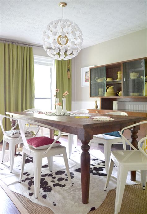 colorful eclectic modern dining room hearts  sharts