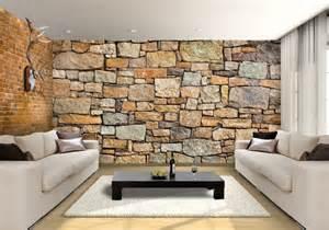 Komar Stone Wall Mural brick effect wall garden custom wallpaper mural print by