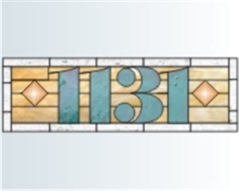 house numbers pattern house numbers stained glass pattern