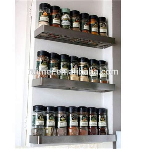 Stainless Steel Spice Racks For Kitchen Stainless Steel Spice Jar Rack Grundtal Kitchen Spice Rack