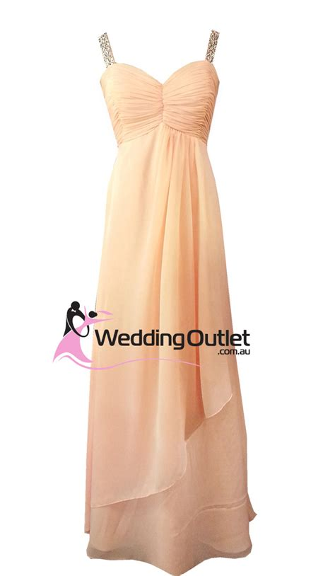 apricot color dress apricot evening gown or bridesmaid dress style g101