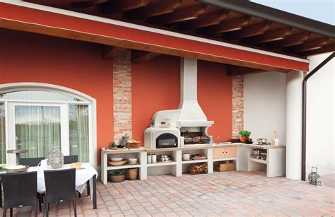 cucine da giardino in muratura cucine da esterno piani cottura barbecue e arredi per