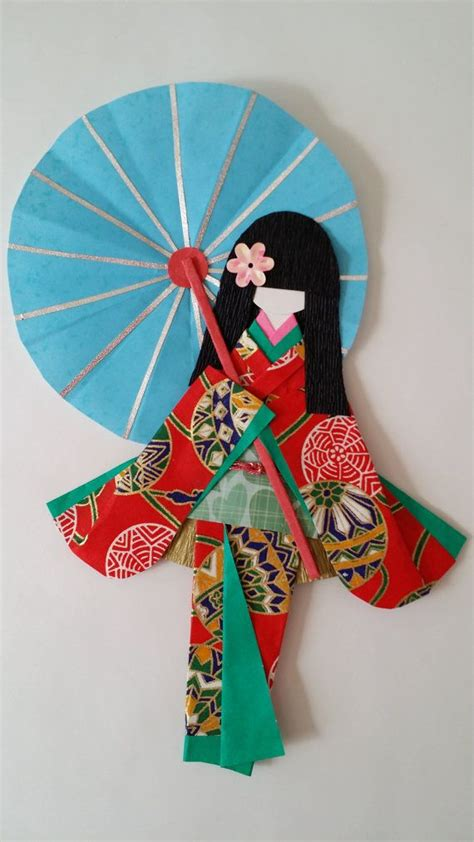 Origami Doll - washi ningyo traditional japanese kimono paper by www