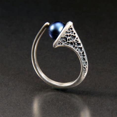infinity by aleksandra vali silver pearl ring artful