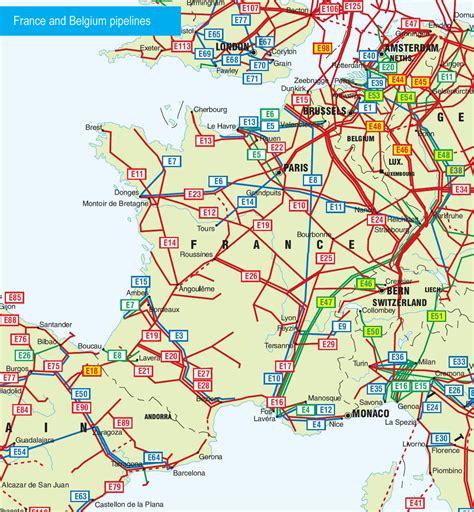 france  belgium pipelines map crude oil petroleum