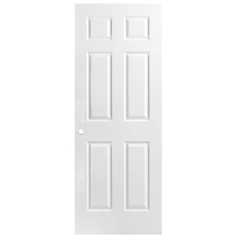 Shop Reliabilt 6 Panel Hollow Core Textured Bored Interior 32 Interior Door