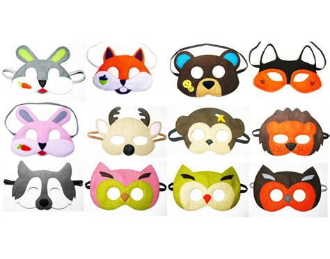 woodland animal masks template 5 felt woodland animals masks pack for by