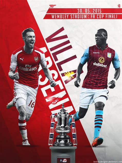 Poster Football Arsenal Fa15 arsenal aston villa fa cup finali 2015 by lavista designer on deviantart