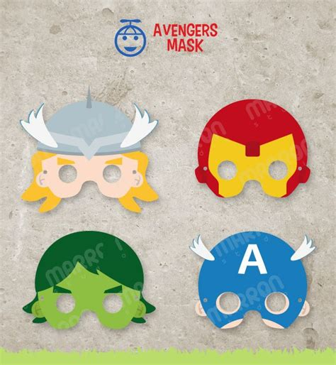 avengers mask template mask template inspired set