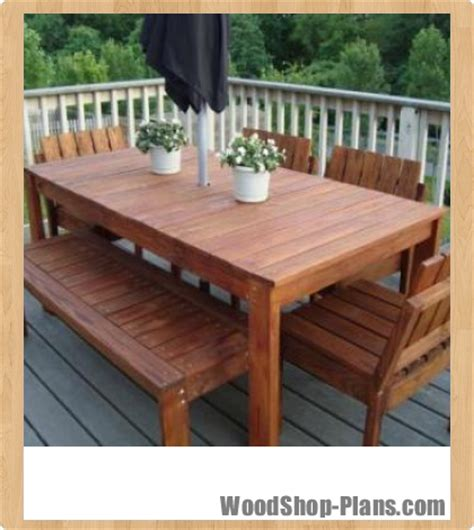 plans woodworking plans patio table  building