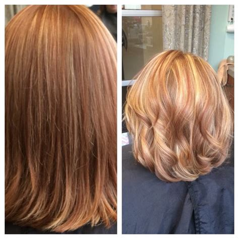 hairstyles copper highlights short hair blonde and copper highlights hair nutrients
