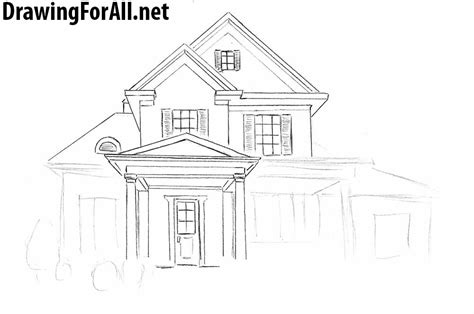 drawing a house how to draw a house for beginners drawingforall net