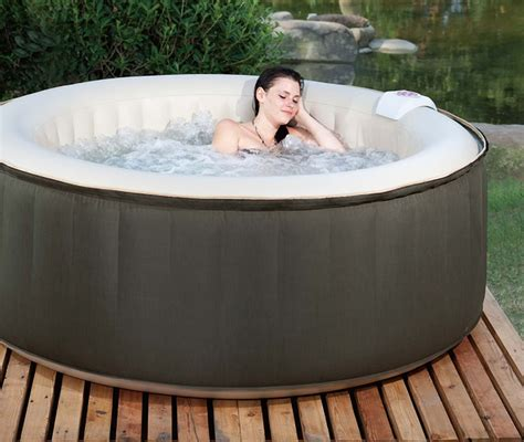 floating hot tub aero spa 4 person inflatable portable heated hot tub spa w