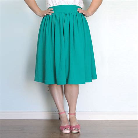 pattern for simple gathered skirt easy full gathered skirt for women sewing tutorial